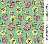 beautiful donuts pattern on a... | Shutterstock .eps vector #1828862957