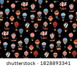 seamless pattern with colorful...   Shutterstock .eps vector #1828893341