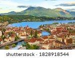 Aerial View Of Lucerne Skyline...