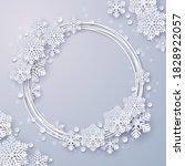 christmas paper cut snowflake... | Shutterstock .eps vector #1828922057