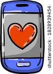 small blue phone  illustration  ...