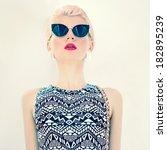 glamorous photo girl in stylish ... | Shutterstock . vector #182895239