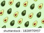Fresh Avocado Pattern On Light...