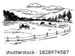 countryside landscape  rural...   Shutterstock .eps vector #1828974587