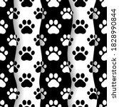 pet prints. paw seamless... | Shutterstock .eps vector #1828990844