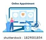 dentist profession online...   Shutterstock .eps vector #1829001854