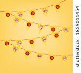 chinese vegetarian festival and ... | Shutterstock .eps vector #1829011454