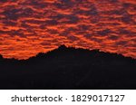 The Red Clouds At Sunset