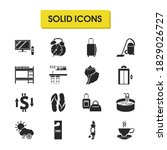 tourism icons set with suitcase ...