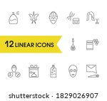 beauty icons set with ad...