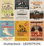 outdoor camping and rock music... | Shutterstock .eps vector #1829079194
