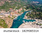 The Small Harbor And Beach In...
