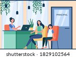 unhappy mom talking with angry... | Shutterstock .eps vector #1829102564