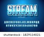 esport text effect alphabet... | Shutterstock .eps vector #1829114021