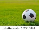 soccer field on grass. | Shutterstock . vector #182913344