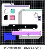 collage of user interface...   Shutterstock .eps vector #1829137247