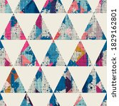 seamless vintage pattern with...   Shutterstock .eps vector #1829162801