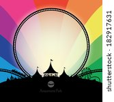 vector silhouette of amusement... | Shutterstock .eps vector #182917631