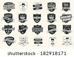 collection of vintage retro... | Shutterstock .eps vector #182918171