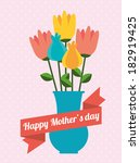 mothers day design over pink... | Shutterstock .eps vector #182919425