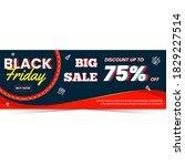 black friday sale banner... | Shutterstock .eps vector #1829227514