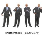 businessman in several... | Shutterstock . vector #18292279