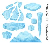 iceberg  icicle  ice cube and... | Shutterstock .eps vector #1829267837