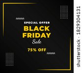 black friday sale banner with... | Shutterstock .eps vector #1829304131