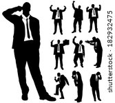 vector silhouette of business... | Shutterstock .eps vector #182932475