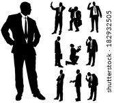 vector silhouette of business... | Shutterstock .eps vector #182932505