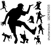 vector silhouette of people who ... | Shutterstock .eps vector #182932535