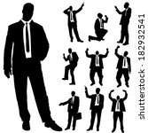 vector silhouette of business... | Shutterstock .eps vector #182932541