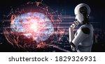Thinking Ai Humanoid Robot...