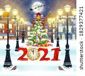 happy new year and merry... | Shutterstock .eps vector #1829377421
