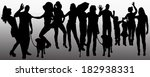 vector people silhouette on a... | Shutterstock .eps vector #182938331