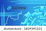 gemini cryptocurrency stock...   Shutterstock .eps vector #1829391221