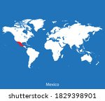 vector map of the mexico | Shutterstock .eps vector #1829398901