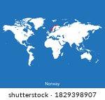 vector map of the norway | Shutterstock .eps vector #1829398907