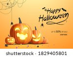 happy halloween banner  sale... | Shutterstock .eps vector #1829405801