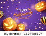happy halloween banner  sale... | Shutterstock .eps vector #1829405807