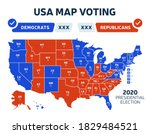 usa presidential election... | Shutterstock .eps vector #1829484521