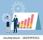 people agreeing on cooperation...   Shutterstock .eps vector #1829495321