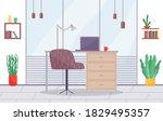 workplace in office. cabinet...   Shutterstock .eps vector #1829495357