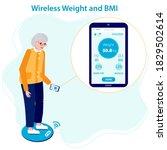 elderly female patient... | Shutterstock .eps vector #1829502614