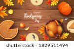 Happy Thanksgiving Banner With...