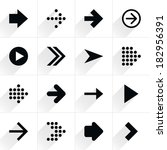 6 arrow flat icon with gray...