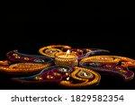 Indian Festival Diwali   Candle ...