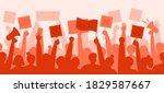 a crowd of politically active...   Shutterstock .eps vector #1829587667