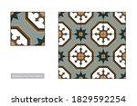 traditional palestinian floor... | Shutterstock .eps vector #1829592254