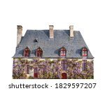 French Cottage With Wisteria...